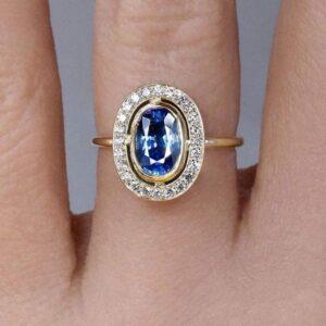 Natural Vivid Blue Sapphire - luxury kosmimata 2